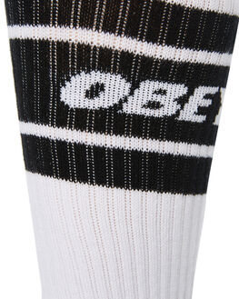 WHITE BLACK MENS CLOTHING OBEY SOCKS + UNDERWEAR - 100260093WHBK