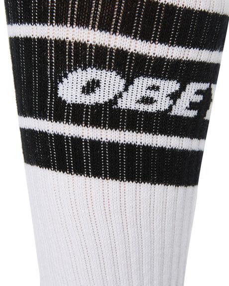 WHITE BLACK MENS CLOTHING OBEY SOCKS + UNDERWEAR - 100260093WHBK