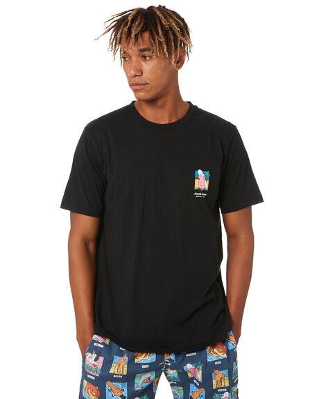 BLACK MENS CLOTHING BARNEY COOLS TEES - 110-Q320BLK