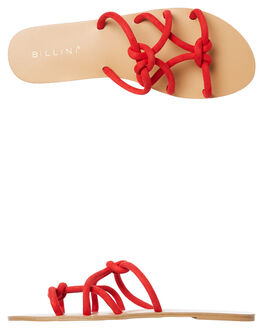 RED SUEDE WOMENS FOOTWEAR BILLINI FASHION SANDALS - S538REDSD