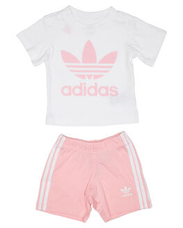 LIGHT PINK KIDS TODDLER GIRLS ADIDAS TOPS - DV2815LPINK