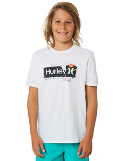 WHITE KIDS BOYS HURLEY TOPS - CD0625100