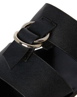 BLACK PU WOMENS FOOTWEAR A LIST SLIDES - GUNNER-BLK