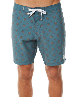 DUSTED TEAL MENS CLOTHING RHYTHM BOARDSHORTS - APR18M-TR07TEA