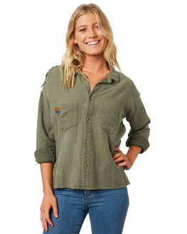 OLIVE WOMENS CLOTHING RIP CURL FASHION TOPS - GSHFE10058
