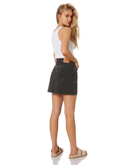 WASHED NOIR BLACK WOMENS CLOTHING LEVI'S SKIRTS - 27889-0002