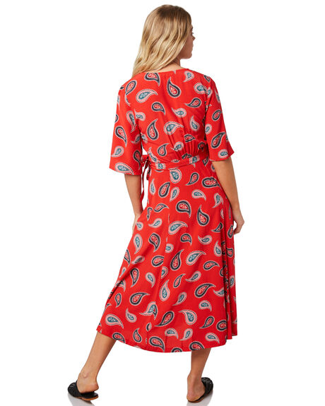 RED OUTLET WOMENS TIGERLILY DRESSES - T381428RED