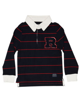 NAVY KIDS BOYS ROOKIE BY THE ACADEMY BRAND TOPS - R19W406NVY