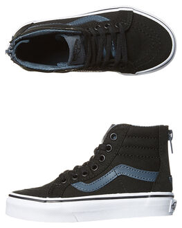BLACK DARK SLATE KIDS BOYS VANS SNEAKERS - VN-A3276MM5BLK