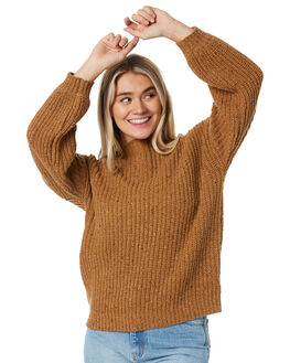 CAMEL WOMENS CLOTHING RUSTY KNITS + CARDIGANS - CKL0352CAM