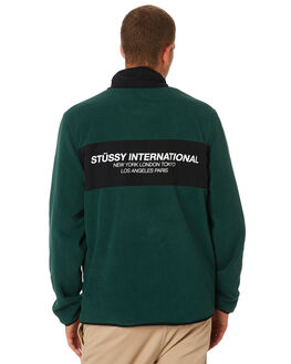 DARK GREEN MENS CLOTHING STUSSY JUMPERS - ST091207DKGRN