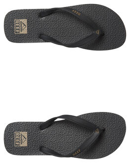 BLACK FOSSIL MENS FOOTWEAR REEF THONGS - 218BFS