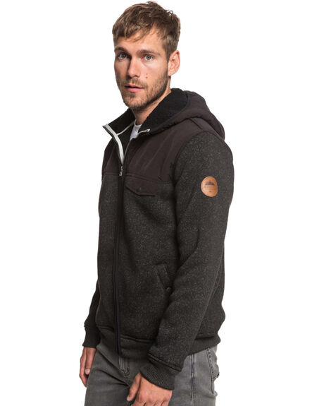 BLACK MENS CLOTHING QUIKSILVER JUMPERS - EQYFT03834-KVJ0