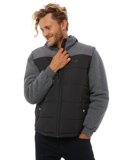 BLACK MENS CLOTHING RIP CURL JACKETS - CJKCW10090