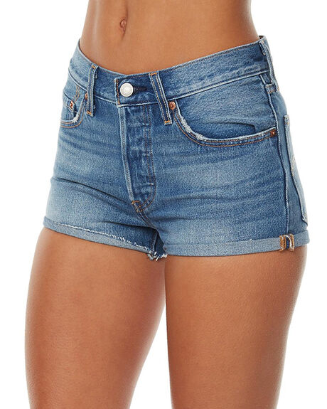BLUE EXPLORER WOMENS CLOTHING LEVI'S SHORTS - 32317-0052BLE