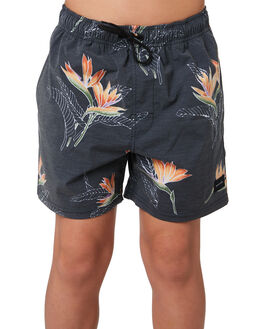 BLACK KIDS BOYS RIP CURL BOARDSHORTS - KBOUU10090