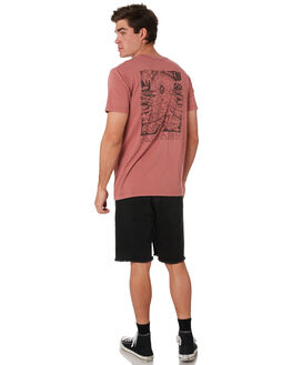 FADED RED MENS CLOTHING ALOHA ZEN TEES - AZ014FDRED