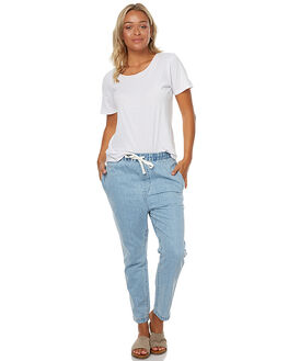 SEA BLUE WOMENS CLOTHING ASSEMBLY JEANS - AW-W21788SEABL