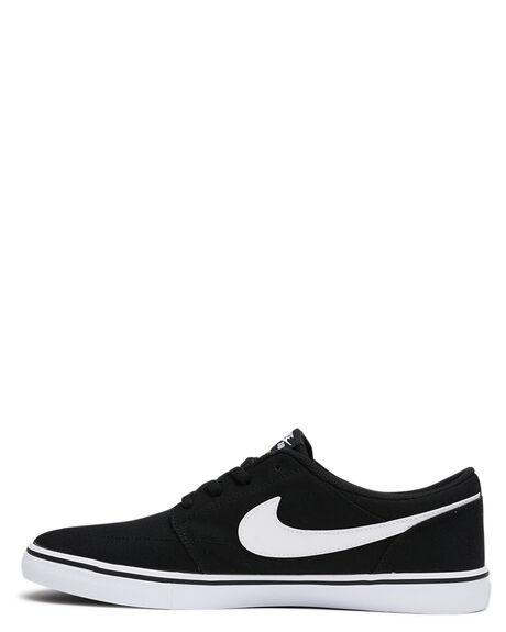 BLACK WHITE MENS FOOTWEAR NIKE SKATE SHOES - SS880268-010M