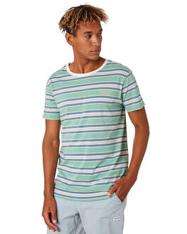 MIST GREEN MENS CLOTHING BANKS TEES - WTS0414MSG