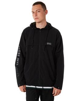 BLACK MENS CLOTHING GLOBE JACKETS - GB01837008BLK