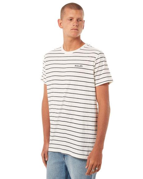WHITE BLACK MENS CLOTHING ROLLAS TEES - 151683225