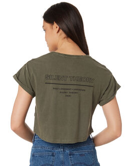 KHAKI WOMENS CLOTHING SILENT THEORY TEES - 6022042KHA