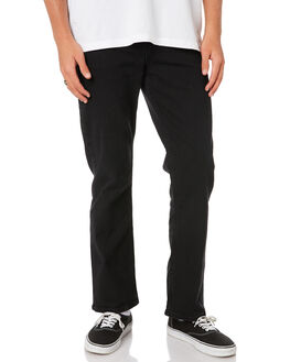 WORN BLACK MENS CLOTHING RIDERS BY LEE JEANS - R-501052-082WBLK