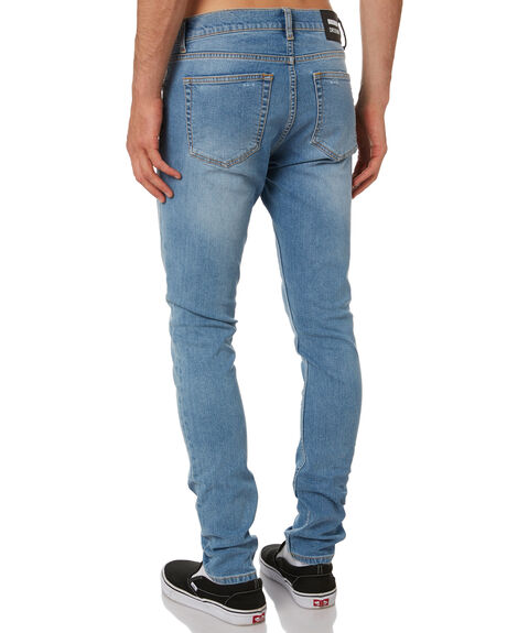AZURE BLUE MENS CLOTHING DR DENIM JEANS - 2010109I32ABLU