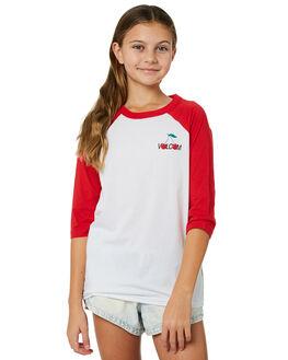 RAD RED KIDS GIRLS VOLCOM TEES - B35218Y0RAD