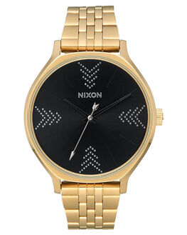 GOLD BLACK SILVER WOMENS ACCESSORIES NIXON WATCHES - A1249-2879-GLDBL