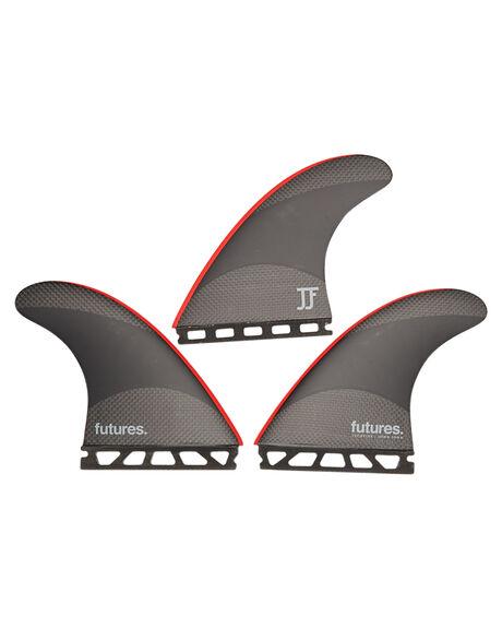 BLACK RED BOARDSPORTS SURF FUTURE FINS FINS - JJM-010703BLKR