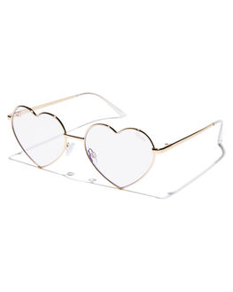 GOLD CLEAR WOMENS ACCESSORIES QUAY EYEWEAR SUNGLASSES - QW-000308GLDCL