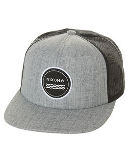 HEATHER GREY MENS ACCESSORIES NIXON HEADWEAR - C2740070