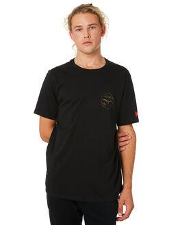 BLACK MENS CLOTHING HURLEY TEES - BQ4441010