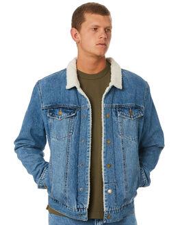 VINTAGE BLUE MENS CLOTHING THRILLS JACKETS - TDP-226VEVNBLU