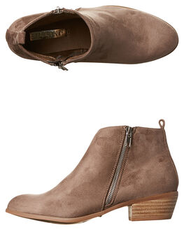 TAUPE SUEDE WOMENS FOOTWEAR BILLINI BOOTS - B802720