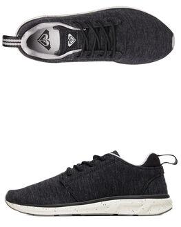 BLACK DARK USED WOMENS FOOTWEAR ROXY SNEAKERS - ARJS700124-BKZ