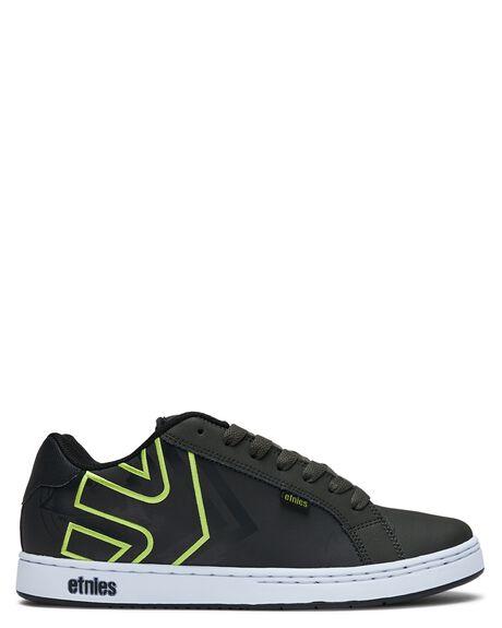 DARK GREY BLACK MENS FOOTWEAR ETNIES SNEAKERS - 4107000233022