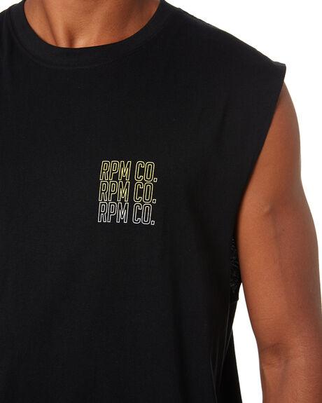 BLACK MENS CLOTHING RPM SINGLETS - 20SM10A1BLK