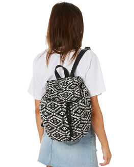 BLACK WHITE WOMENS ACCESSORIES RUSTY BAGS + BACKPACKS - BPL0435BWT