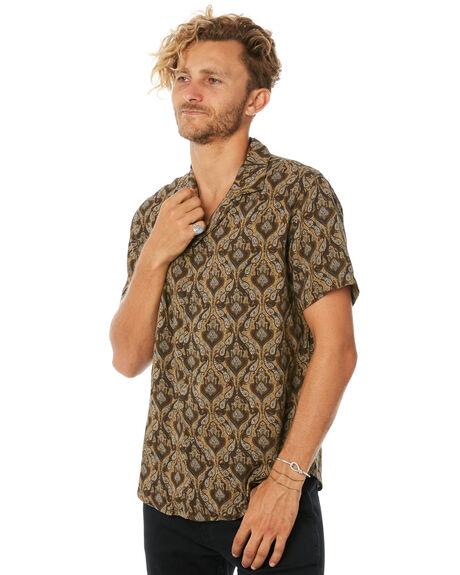 VINTAGE BROWN MENS CLOTHING RHYTHM SHIRTS - APR18M-WT05-BRO