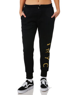 BLACK WOMENS CLOTHING ZOO YORK PANTS - ZY-WPC8387BLK