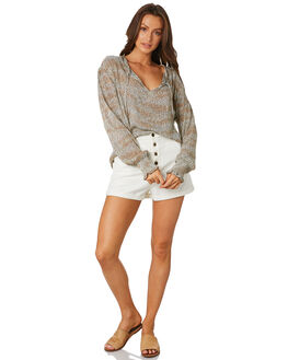 CHEETAH WOMENS CLOTHING THE HIDDEN WAY FASHION TOPS - H8201001CHETH