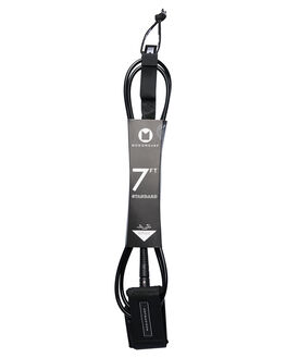 BLACKNESS BOARDSPORTS SURF MODOM LEASHES - 20197FTSTDBKBLK