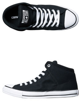 BLACK WHITE MENS FOOTWEAR CONVERSE HI TOPS - 151041BKWH