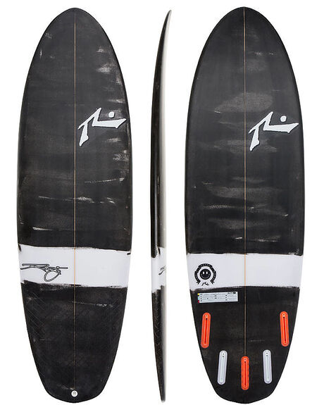 BLACK WHITE BOARDSPORTS SURF RUSTY SURFBOARDS - RUHAPPYSHOVELBLKWH