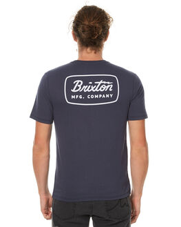 STEEL BLUE MENS CLOTHING BRIXTON TEES - 06433SBLWH