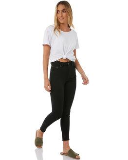 PURE BLACK WOMENS CLOTHING CHEAP MONDAY JEANS - 0442291PBLK