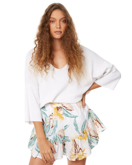 WHITE WOMENS CLOTHING ZULU AND ZEPHYR FASHION TOPS - ZZ2096WHT